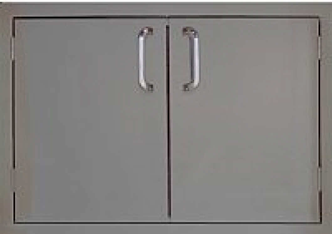 "Access door PCM 260 Series BBQ island door 27"" stainless steel"