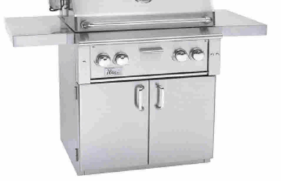 "Alturi  ALTCART-36 36"" Stainless cart for the Alturi Summerset grill"
