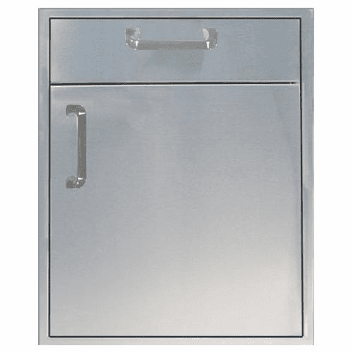 "Barbeque Island 21"" Single Door 1 Drawer Stainless Steel 260 Series"