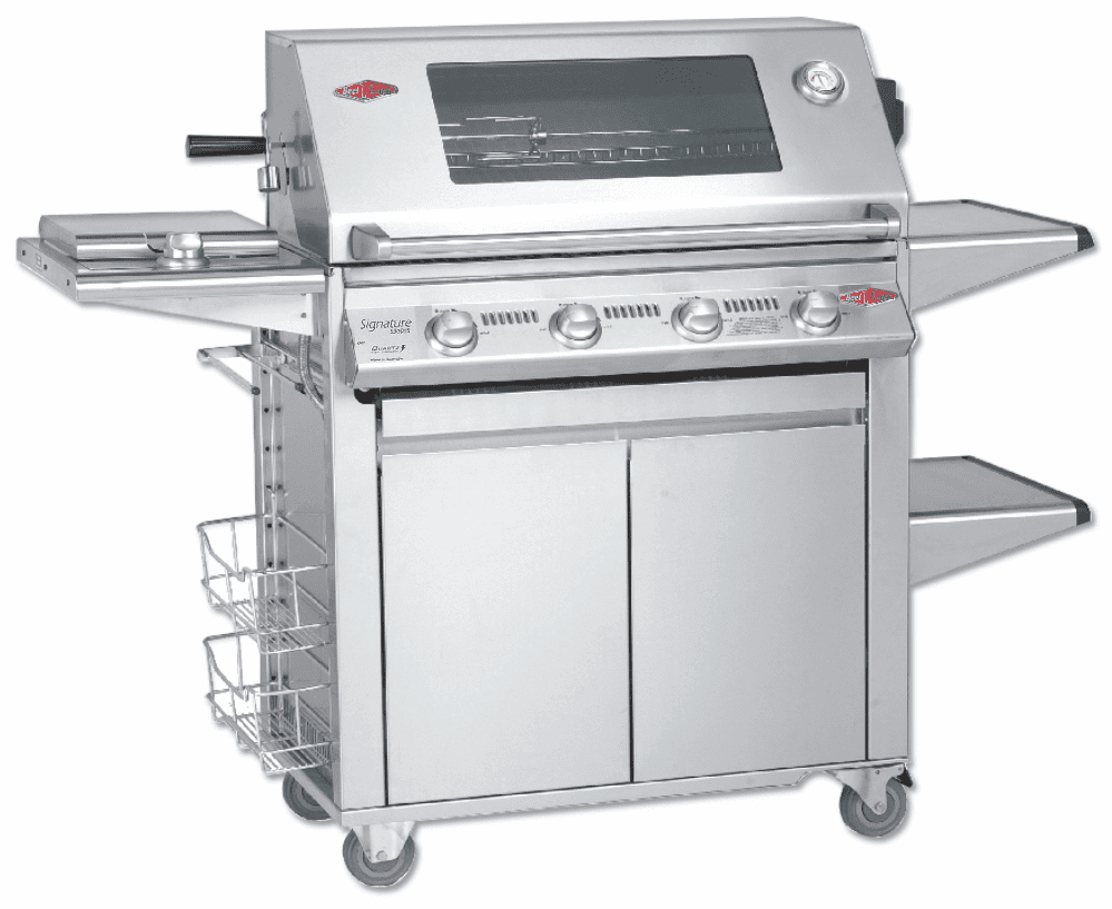 Beefeater 19440 4 Burner Signature Premium Grill and Plus Cart Package