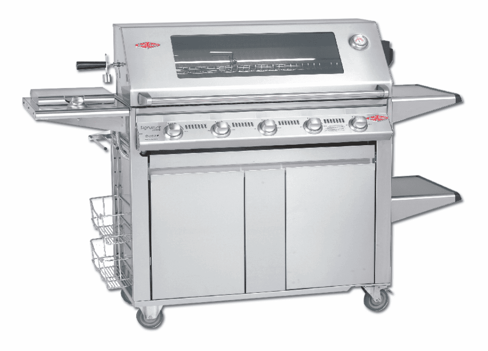 Beefeater 19650 5 Burner Signature with Designer Plus Cart Package