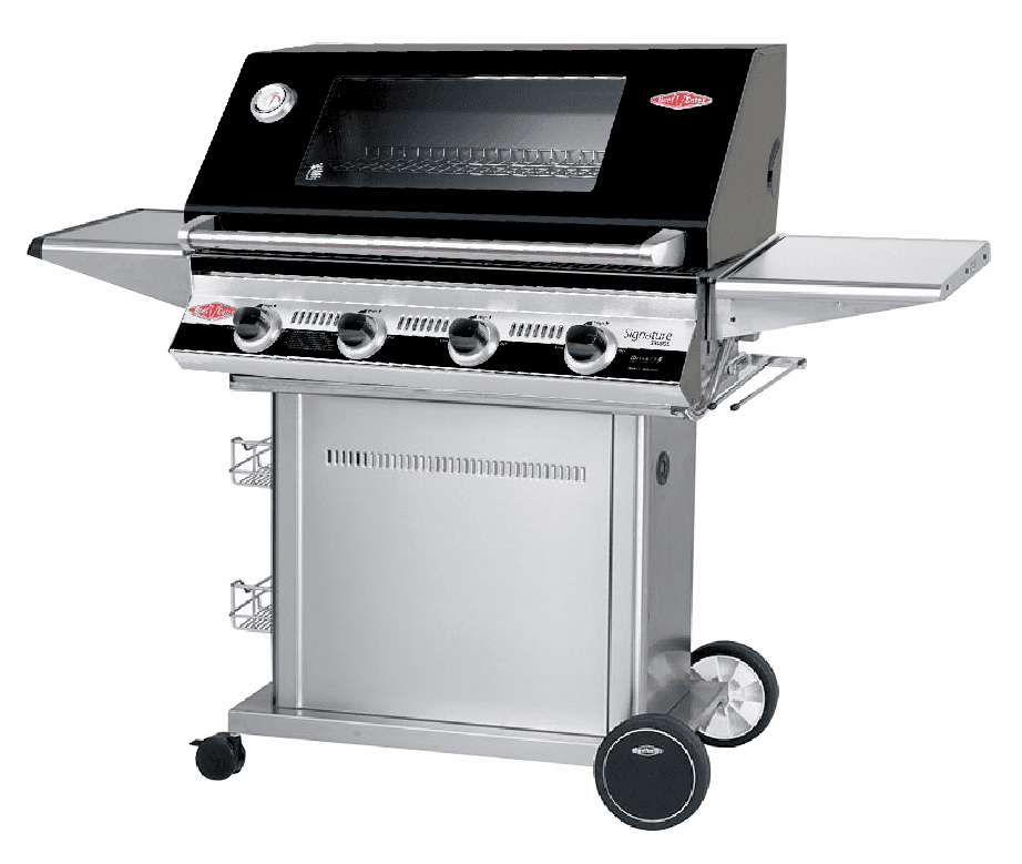 Beefeater 19842 black 4 burner grill w/ 22140 Stainless steel Pedestal