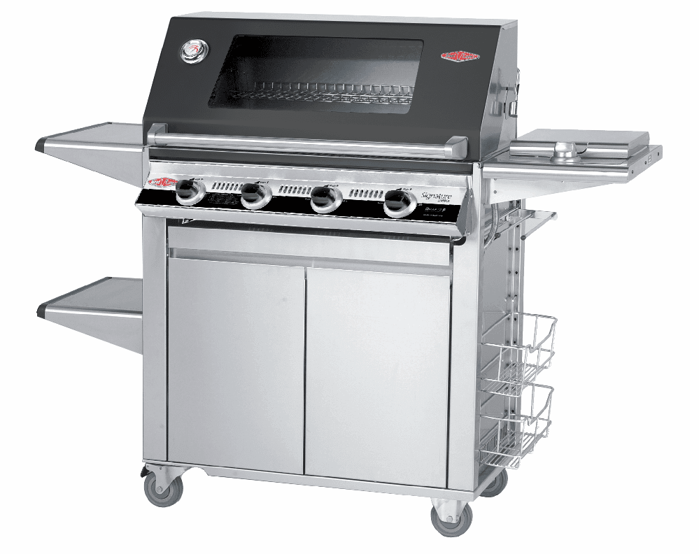 Beefeater 19842 Signature 4 burner grill with 22640 Designer Plus cart