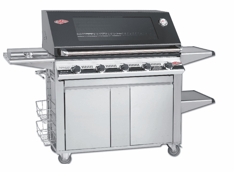 Beefeater 19852 Signature 5 burner grill with 22650 Designer Plus cart