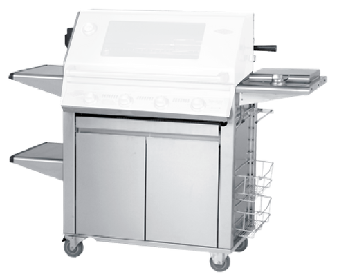 Beefeater 22640 Signature PLUS Stainless 4 Burner Cart/Trolley