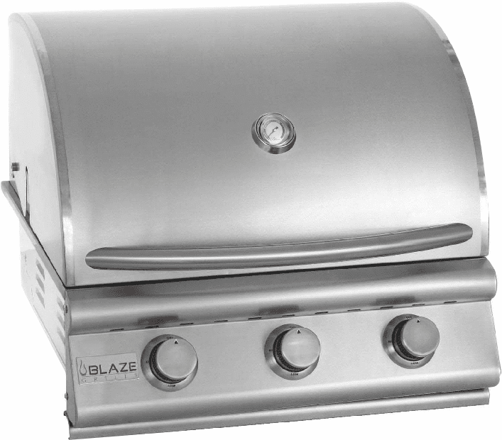 Blaze 3 Burner Built in Grill Stainless Steel Natural Gas BLZ-3-NG