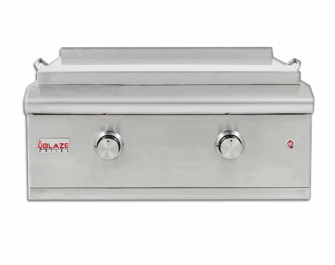 Blaze 30 inch Built in Griddle with lights Propane Gas BLZ-GRIDDLE-LP