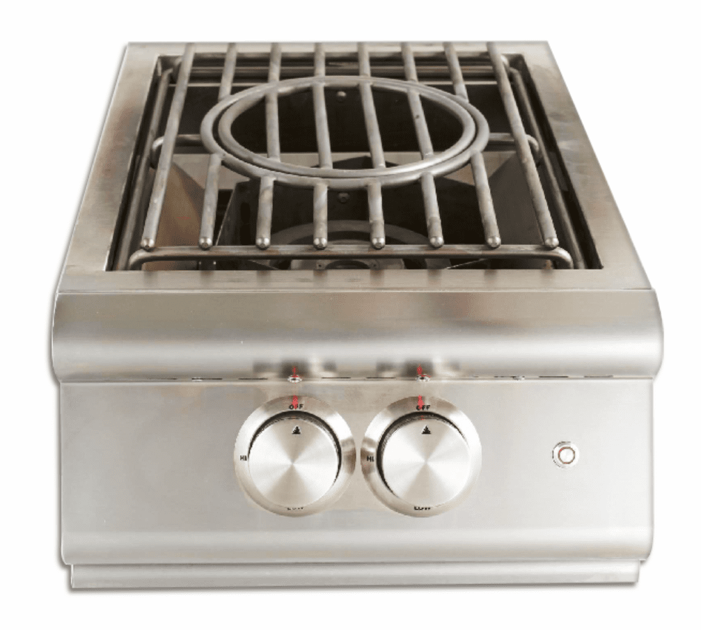 Blaze Power Burner with Wok Ring - Lid and Lights Natural Gas BLZ-PBLTE-NG