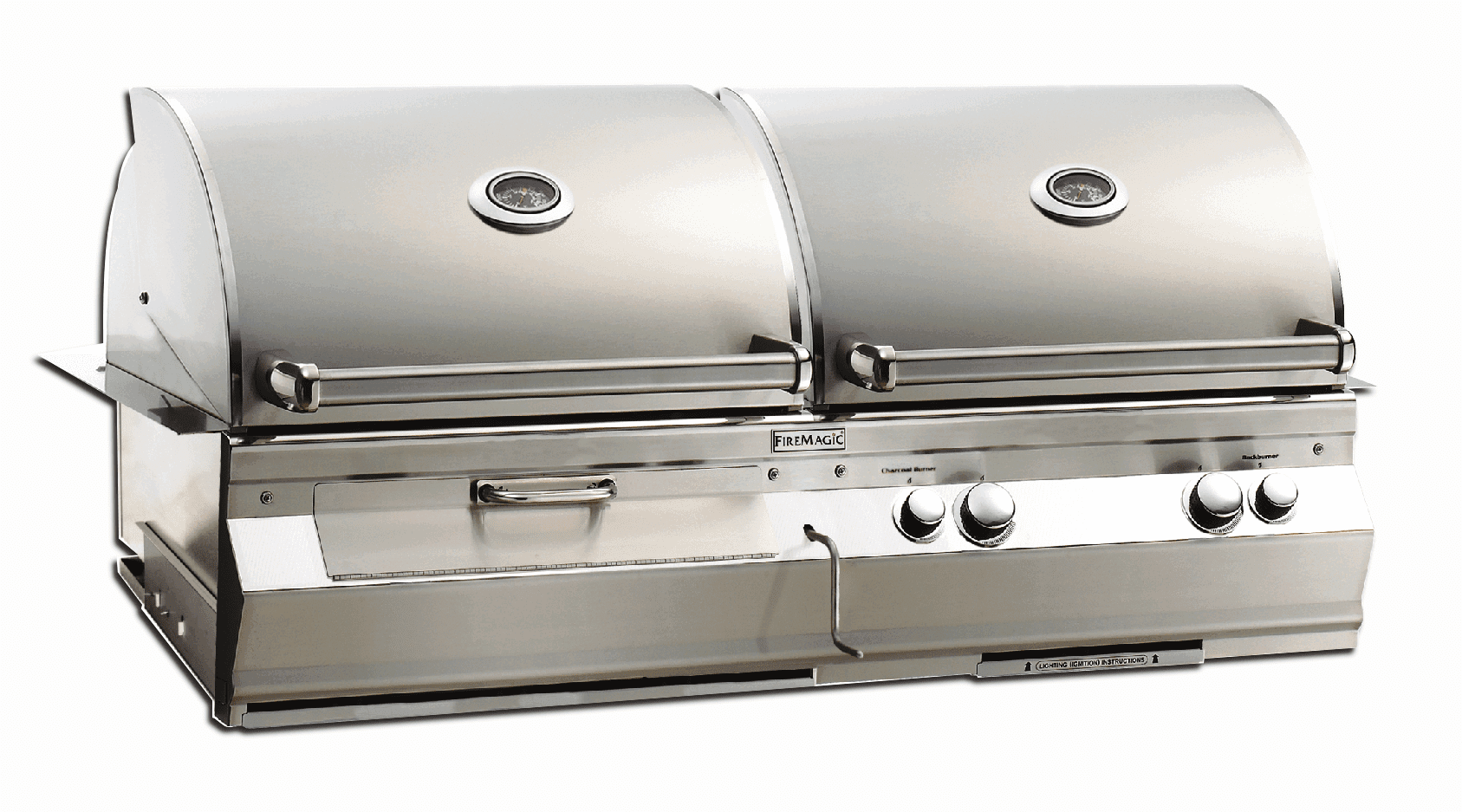 Fire Magic Dual Hood Charcoal and Gas grill built in A830i-7LAN-CB