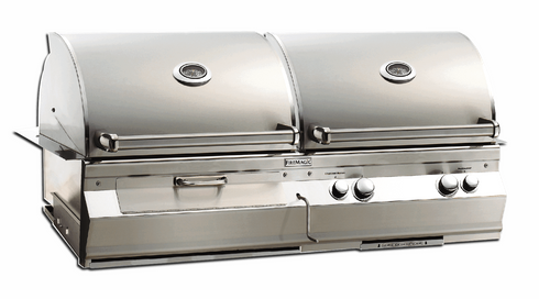 Fire Magic Dual Hood Charcoal and Gas grill built in A830i-8EAN-CB