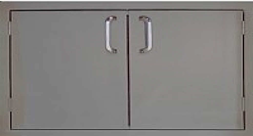 "PCM 260-36 Series BBQ island Double access door 36"" stainless steel"