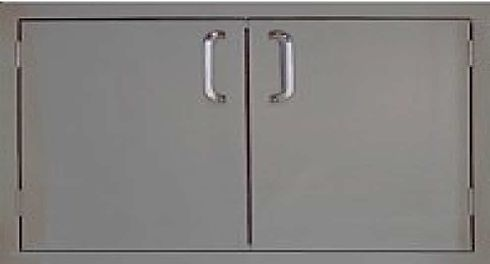 """PCM 260-36 Series BBQ island Double access door 36"""" stainless steel"""