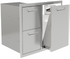 PCM 260 Series BBQ Unit - 32 Inch Double Drawer with Propane Rollout on Right