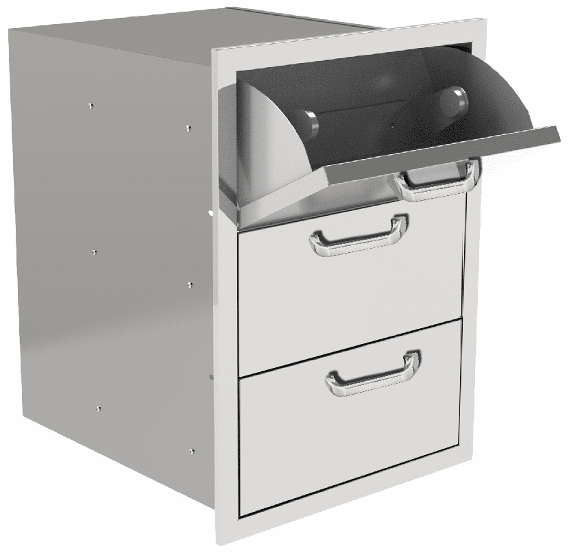 PCM 260 Series BBQ Drawer - 16 Inch 3-Drawer with Paper Towel Drawer