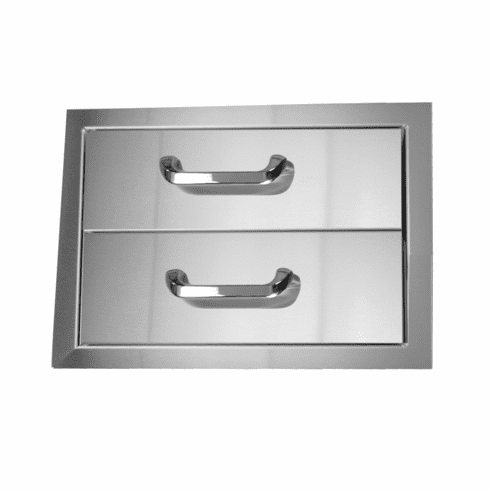 PCM 260 Series BBQ Drawer - 16 Inch 2-Drawer Double Access Storage