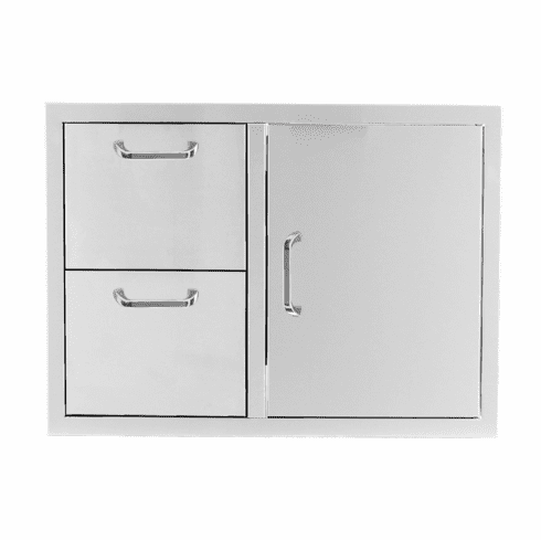 PCM 260 Series BBQ Unit - 32 Inch Access Door & Double Drawer Reversible Combo