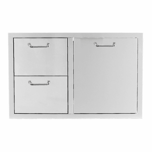 PCM 260 Series BBQ Unit - 39 Inch Triple Drawer & Trash Rollout on Right