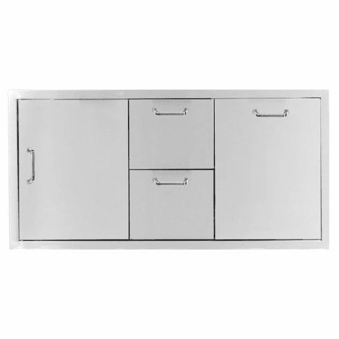 PCM 260 Series BBQ Unit - 42 Inch Door, Double Drawer & Trash Rollout on Right
