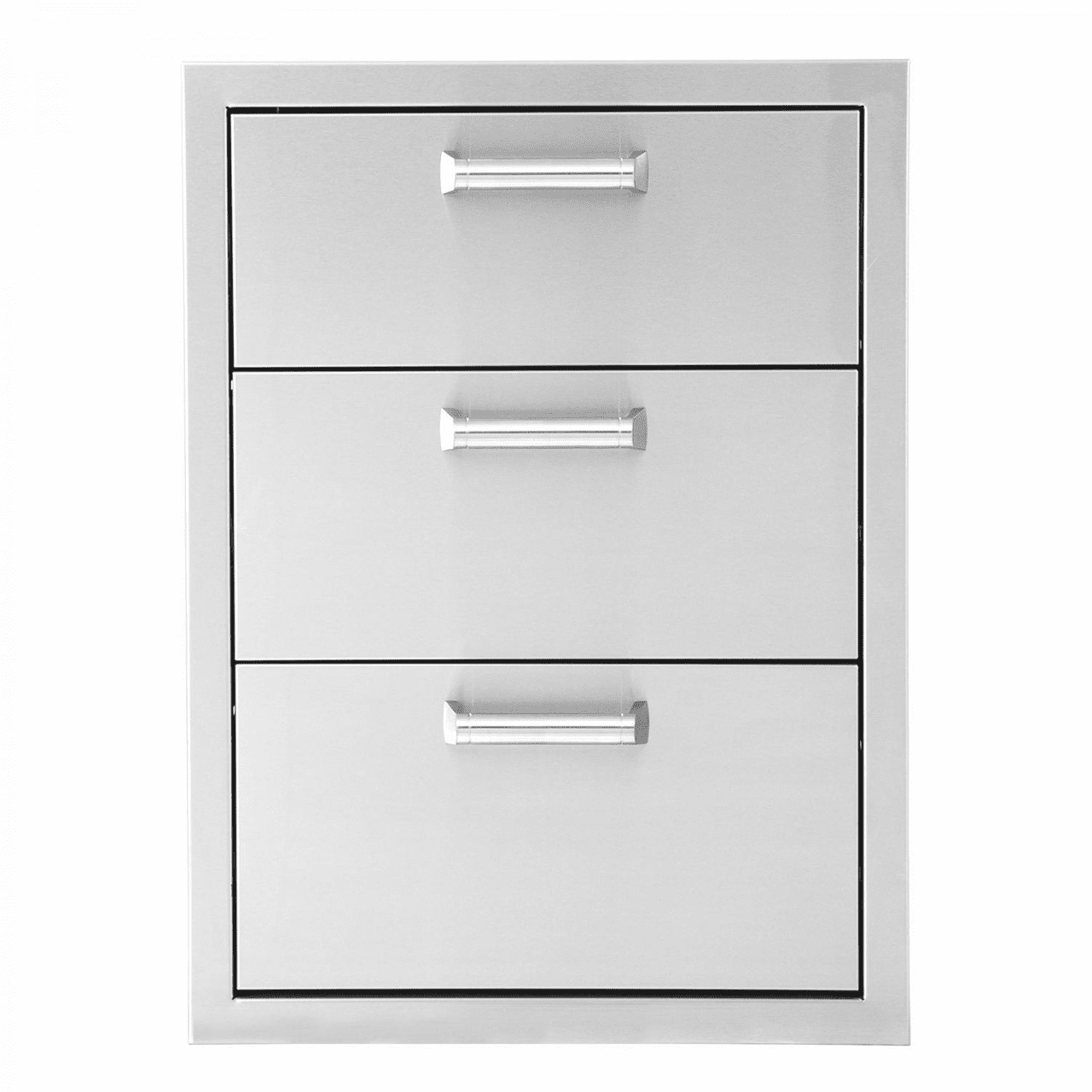 PCM 350H 3DR 3 Drawer for island Access Stainless Steel