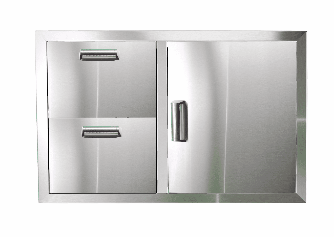 PCM 350H Series BBQ Unit - 32 Inch Access Door & Double Drawer Reversible Combo