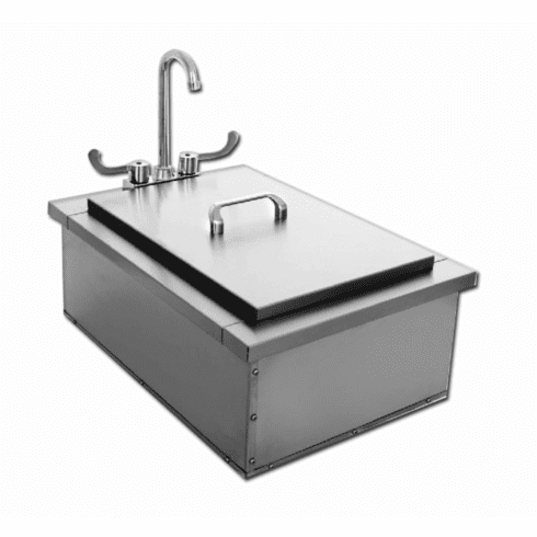 "PCM 400-15 15"" X 24"" drop in sink  stainless steel"