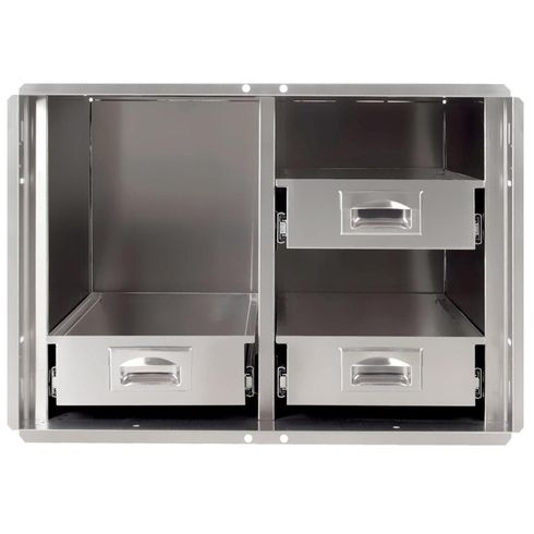 """PCM 400 Series BBQ Island pantry inserts 30"""" stainless steel 1/ea"""