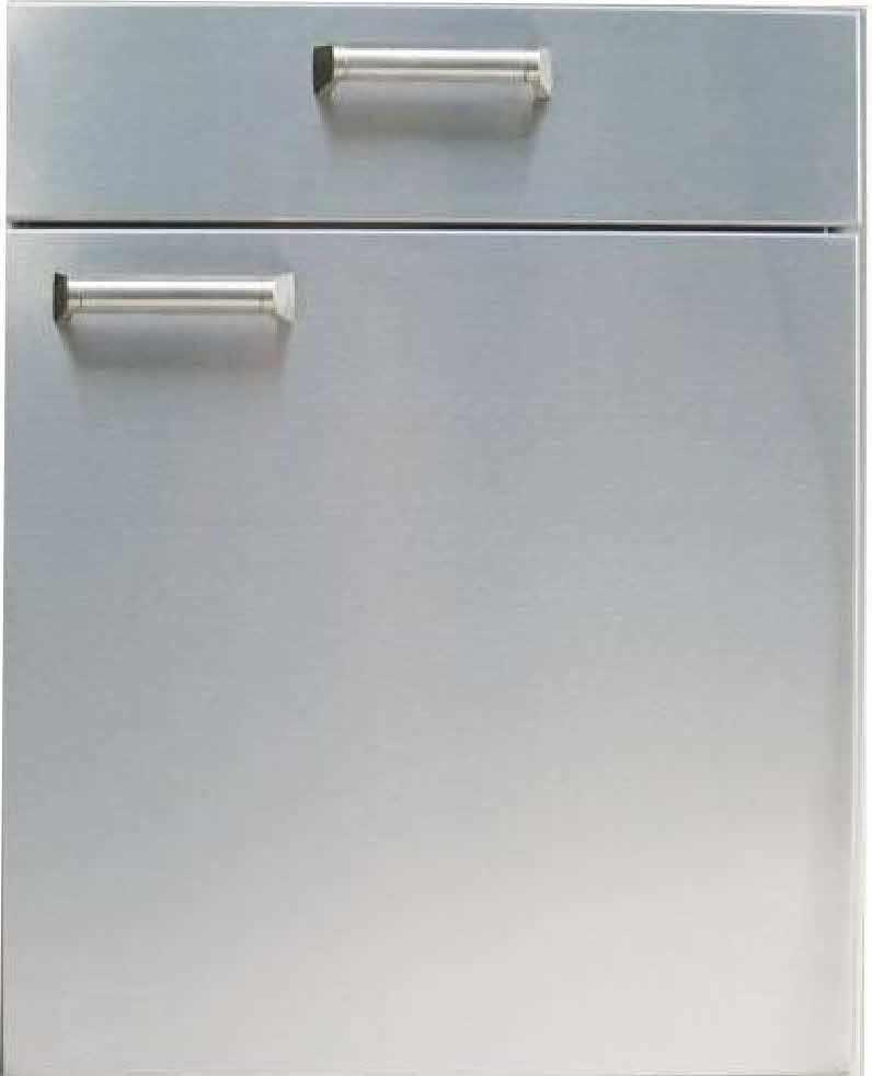 "PCM BBQ island 21"" under counter combo unit 300H series Stainless"