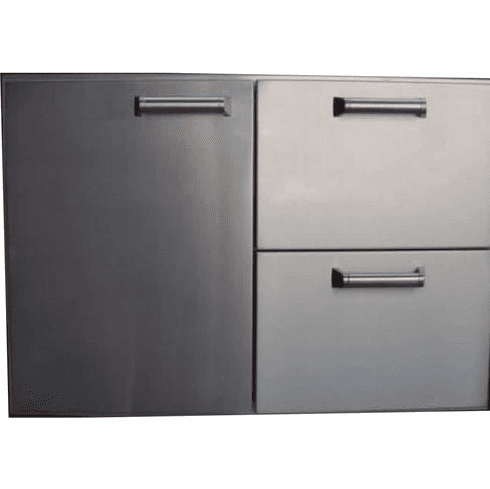 """PCM BBQ island 30"""" Drawer, door combo unit 300H series Stainless Steel"""