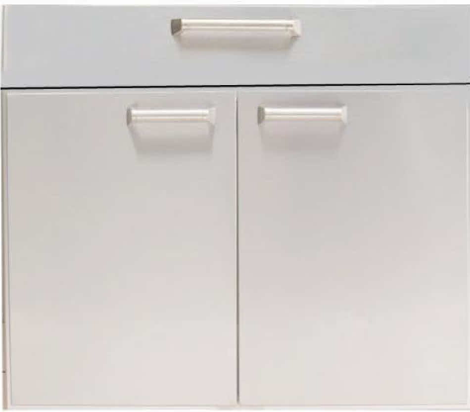 "PCM BBQ island 30"" under counter Drawer door combo unit 300H series"