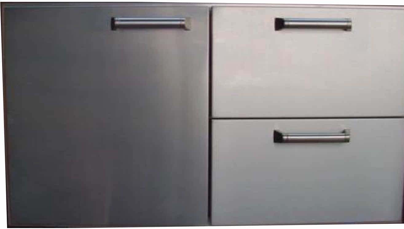 "PCM BBQ island 36"" Drawer and door combo unit 300H series Stainless"