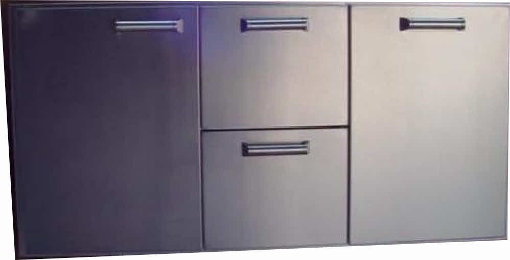 "PCM  BBQ island 42"" Drawer /door combo unit 300H series Stainless"