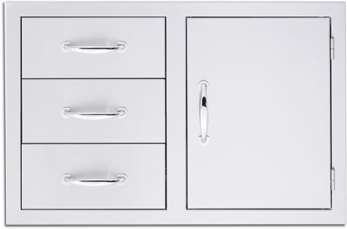 Summerset 1 Door 3 Drawer Combo SSDC-3