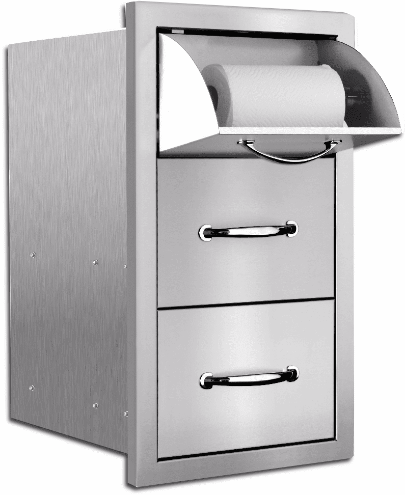 Summerset Masonry Towel 2 Drawer Combo Unit SSTDC-M