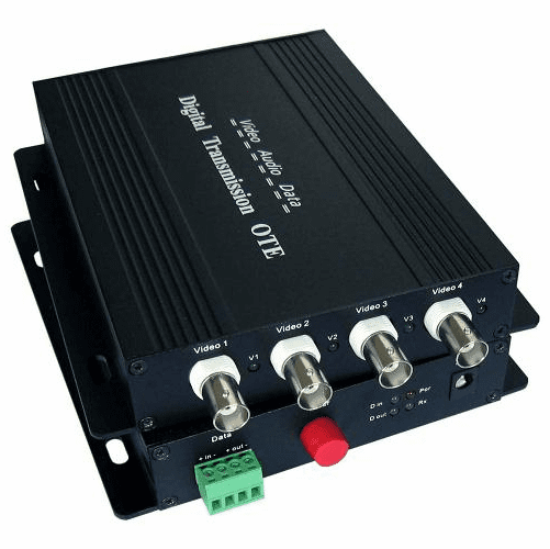 1 channel video and 1 channel reversed 485 data laser fiber optical transmitter and receiver