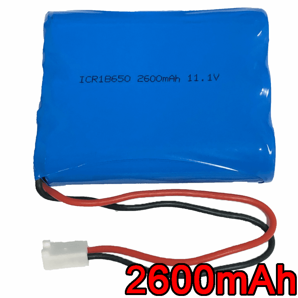 11.1V 2600mAh 28.86Wh Lithium Ion 18650 3 Cell Battery Pack