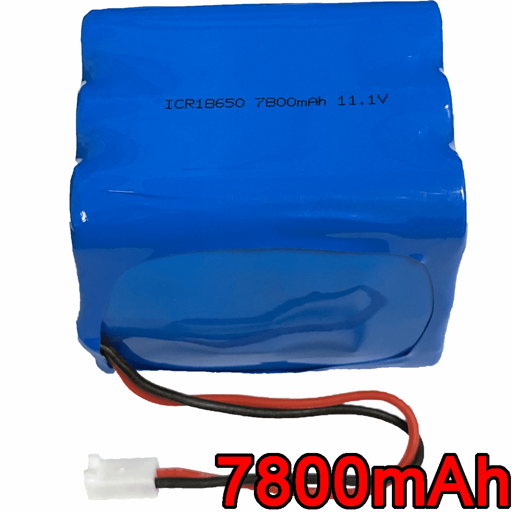 11.1V 7800mAh 86.58Wh Lithium Ion 18650 9 Cell Battery Pack