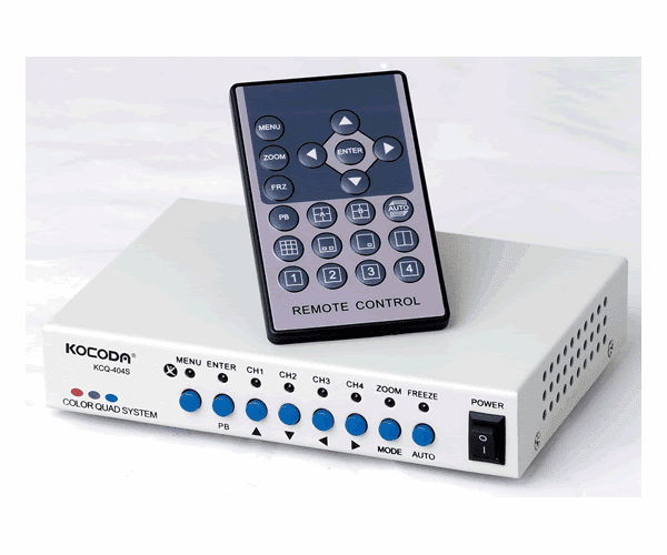 4 channels  Video Qual processor with remote controller