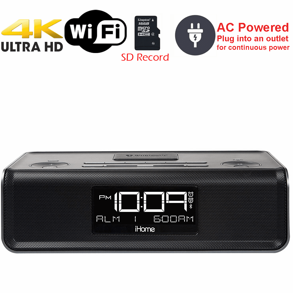 4K Ultra HD WiFi iPhone Dock Radio Spy Camera