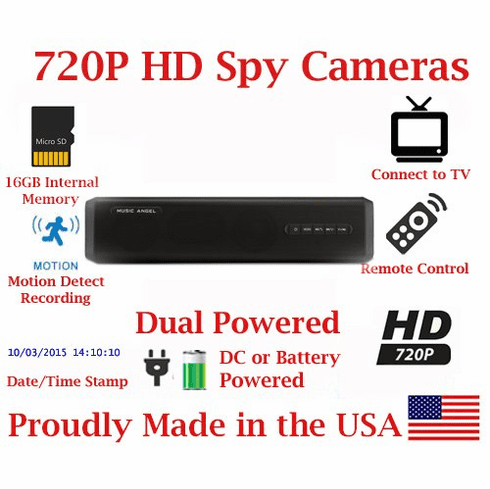 720p HD Mobile Bluetooth Speaker HD Spy Camera Covert Hidden Nanny Camera Spy Gadget AMAZING HD SPEAKER QUALITY + HD SPY CAMERA