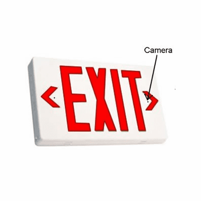 Battery Powered SecureGuard Exit Sign spy camera (30 - 90 days battery)