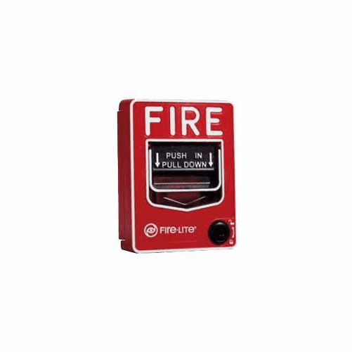 Battery Powered SecureGuard Fire alarm pull station Spy Camera (30 day battery)