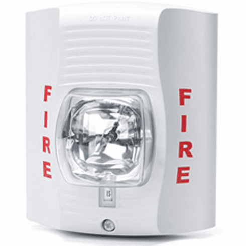 Battery Powered SecureGuard White Fire Strobe Light Spy Camera<br>(30 to 60 Days Battery)