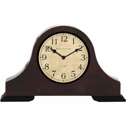 Battery Powered Wood Desk Clock Spy Camera (30-60 Days battery)