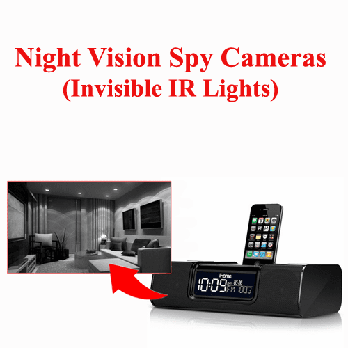 Night Vision Spy Cameras (Invisible IR Lights)