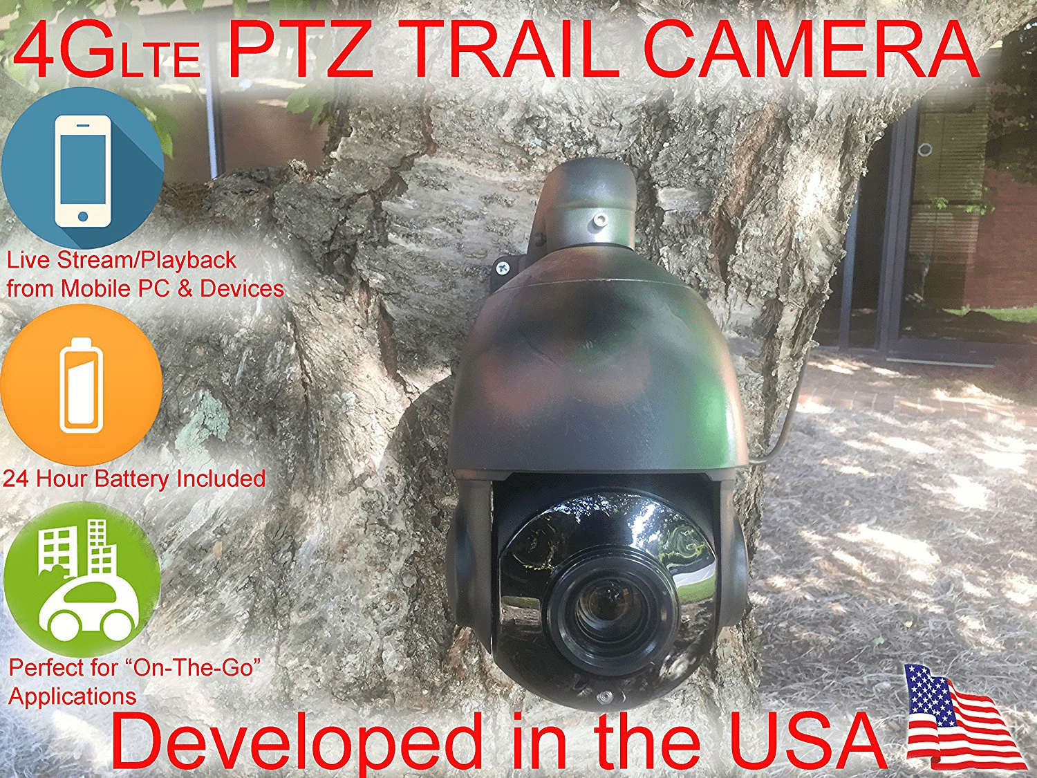 RD-85H Compact 960P HD 4G/LTE Remote Access PTZ  10x Optical Zoom HD Day/ Night Outdoor Hunting Camera