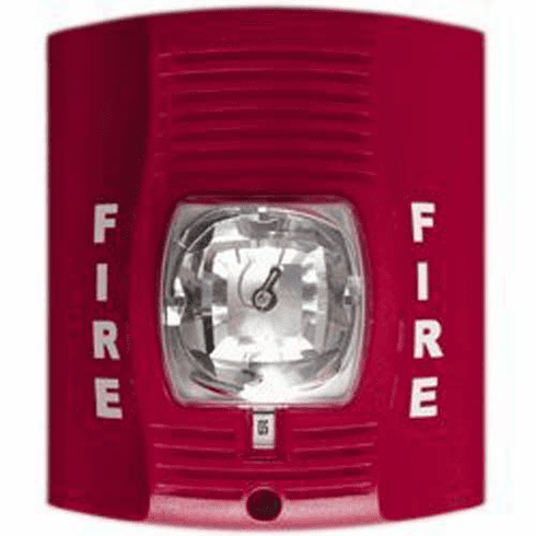 SecureGuard 1080P Elite WiFi Fire Alarm Strobe Light Spy Camera (Red)