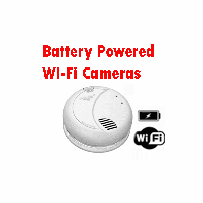 SecureGuard Battery Powered Wi-Fi Spy Cameras