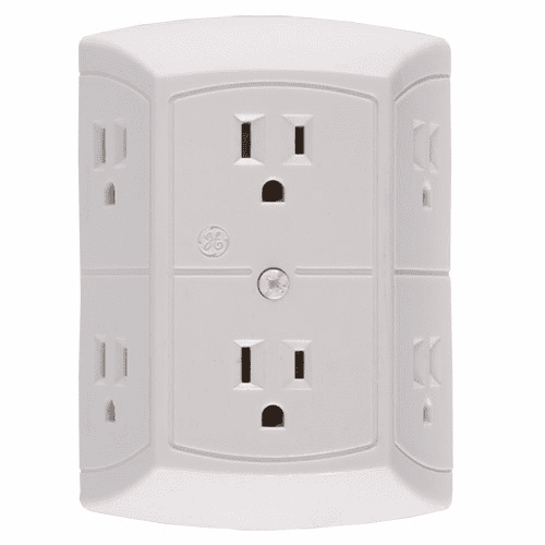 SecureGuard GE 6-Power Outlet Tap Spy Camera