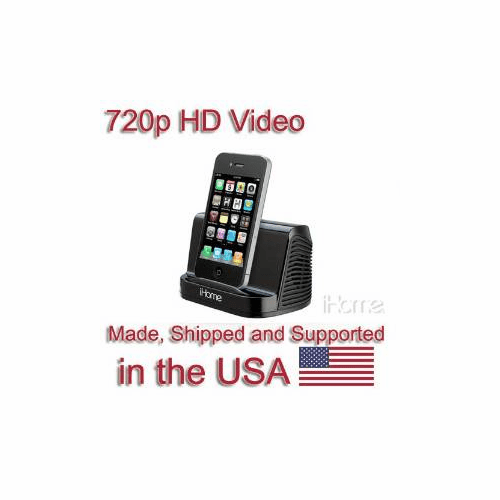 SecureGuard HD 720p iPhone iPod Speaker Spy Camera Covert Hidden Nanny Camera Spy Gadget (New Cost Efficient Line)