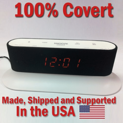 SecureGuard HD 720p Onn Alarm Clock Radio Spy Camera Covert Hidden Nanny Camera Spy Gadget  (New Cost Efficient Line)